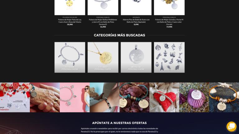 tienda online de joyas Paraiso 23 joyeria online, CASOS DE ÉXITO Y PROYECTOS DE MARKETING Y PUBLICIDAD