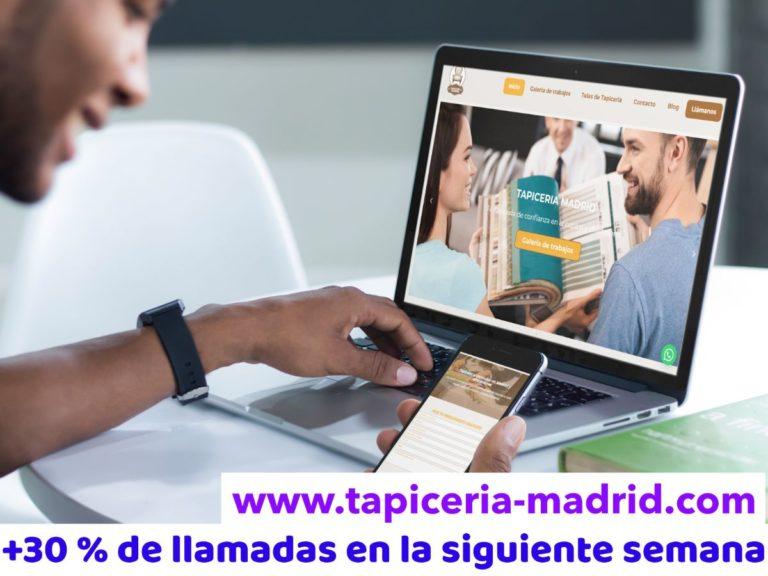 diseño tapiceria web tapiceria-madrid, buque insignia, insignia marketing, agencia de design, agencia de marketing